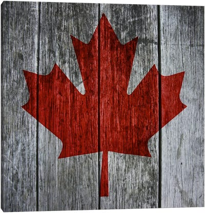 Canadian Flag Red Maple Leaf Canvas Art Print