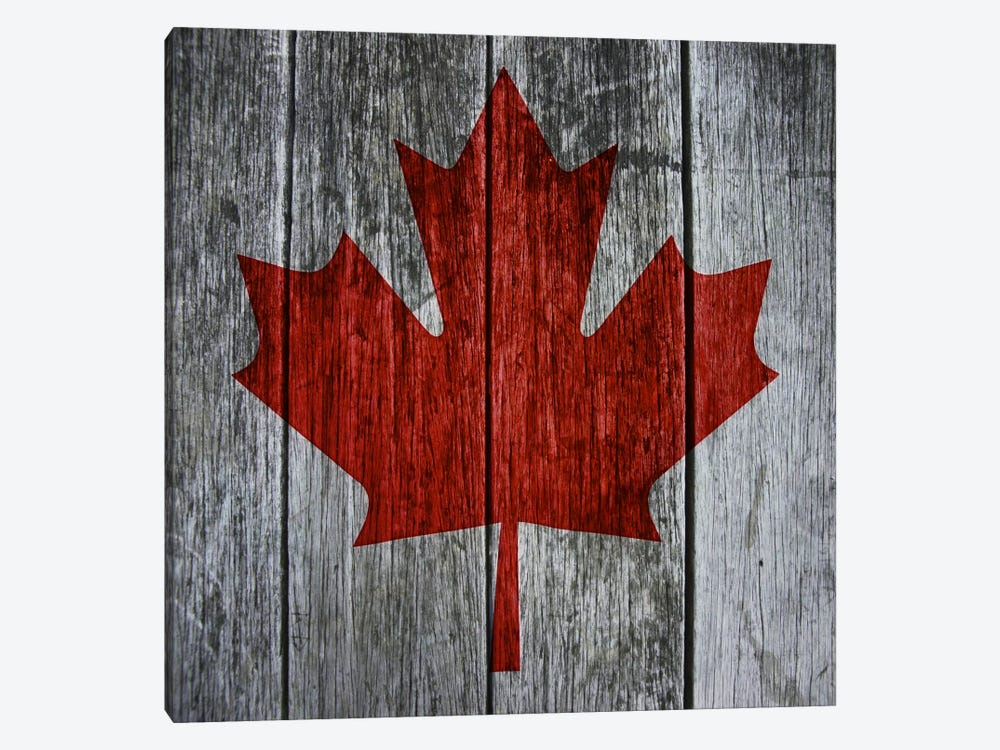 Canadian Flag Red Maple Leaf by iCanvas 1-piece Art Print