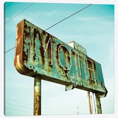 Vintage Motel I Canvas Print #CAP1} by Recapturist Canvas Print