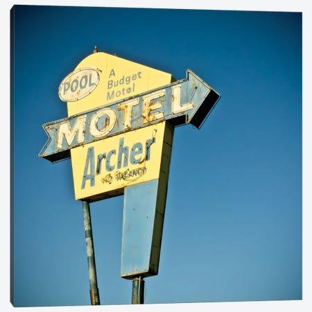 Vintage Motel II Canvas Print #CAP2} by Recapturist Art Print