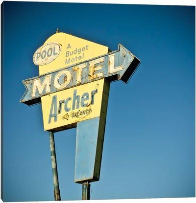 Vintage Motel II Canvas Art Print