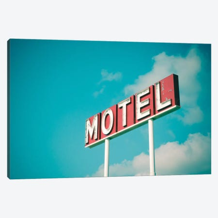 Vintage Motel IV Canvas Print #CAP3} by Recapturist Art Print