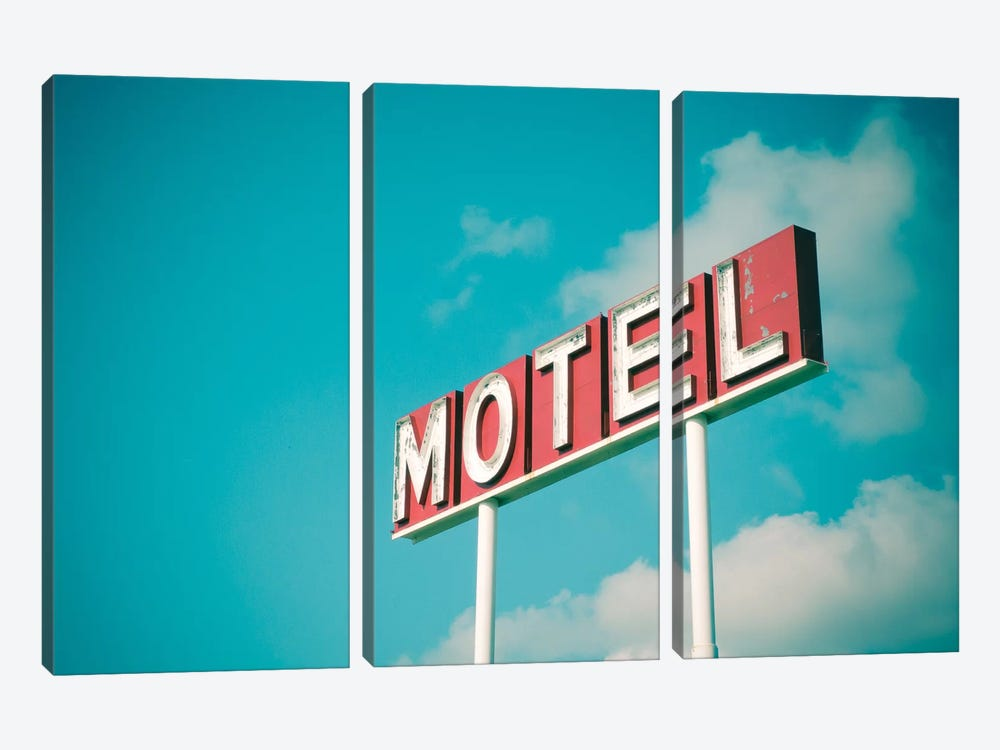 Vintage Motel IV by Recapturist 3-piece Art Print