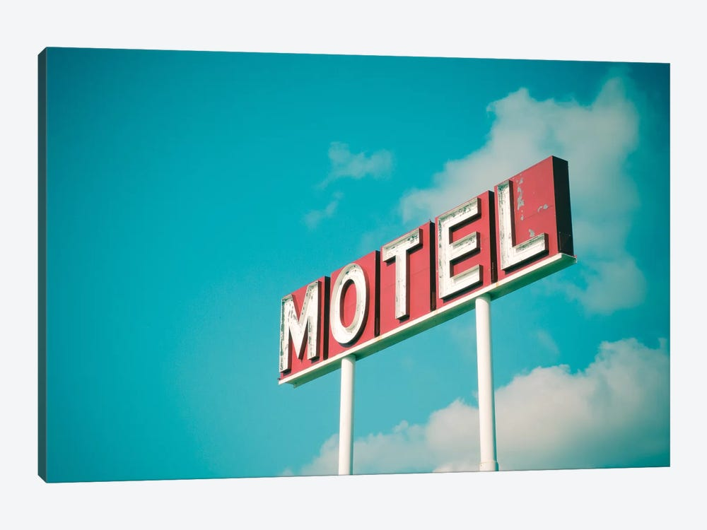 Vintage Motel IV by Recapturist 1-piece Canvas Print
