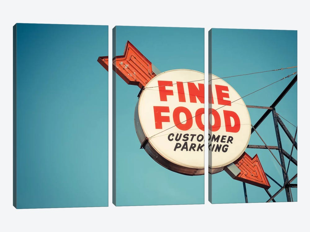 Vintage Diner III by Recapturist 3-piece Canvas Wall Art