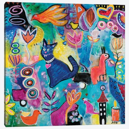 Feline Fantasy Canvas Print #CAU10} by Christine Auda Canvas Art