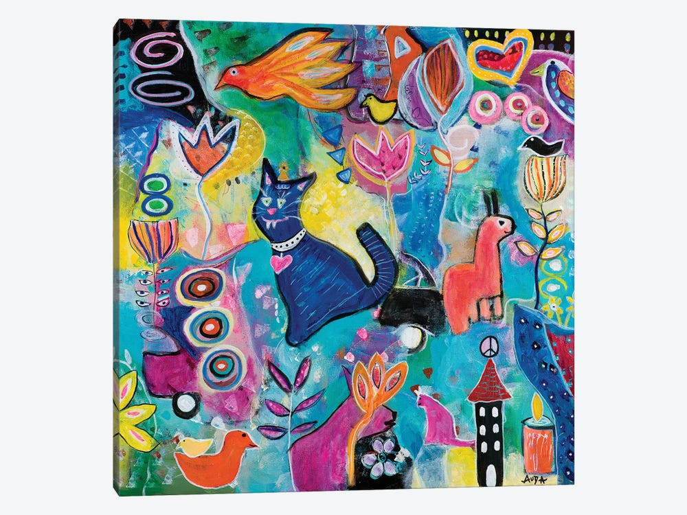 Feline Fantasy by Christine Auda 1-piece Canvas Print