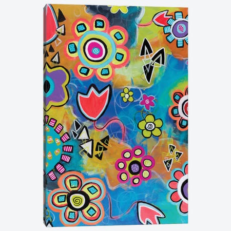 Flowershower Canvas Print #CAU13} by Christine Auda Canvas Wall Art