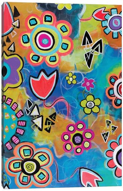 Flowershower Canvas Art Print