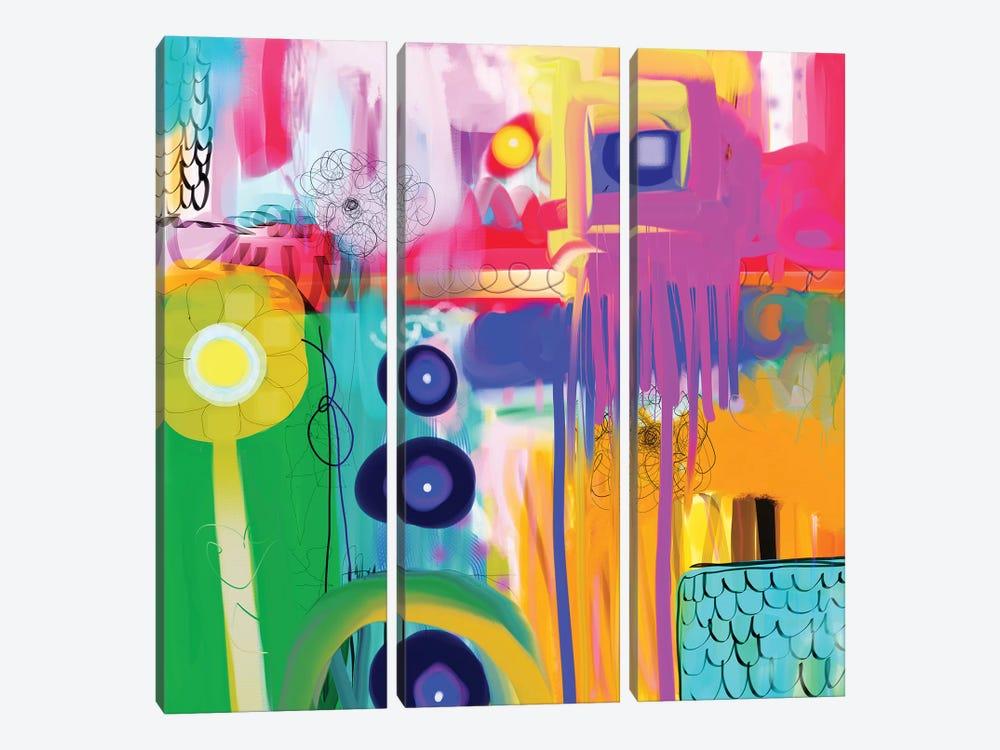 Free Spirit by Christine Auda 3-piece Canvas Print