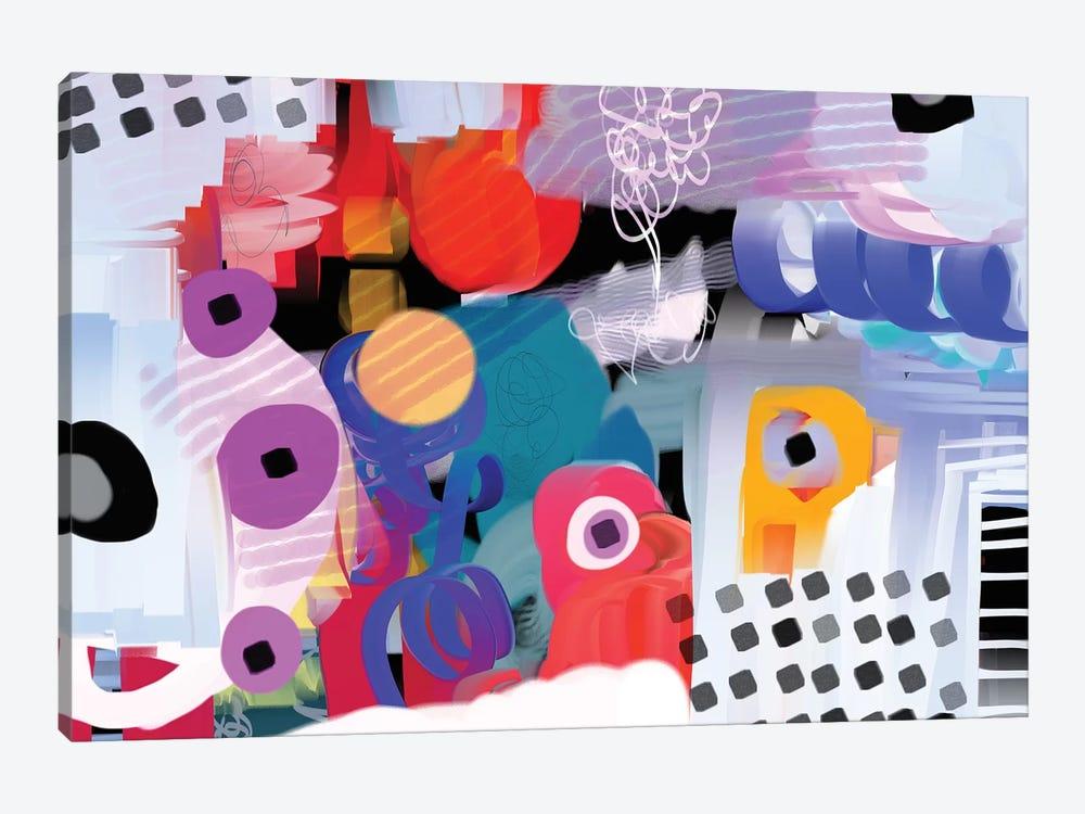 Funky Rythym by Christine Auda 1-piece Canvas Print