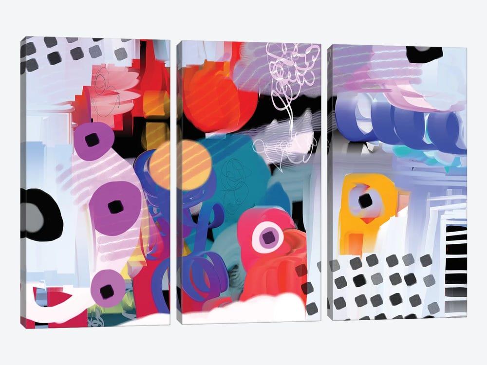 Funky Rythym by Christine Auda 3-piece Canvas Print
