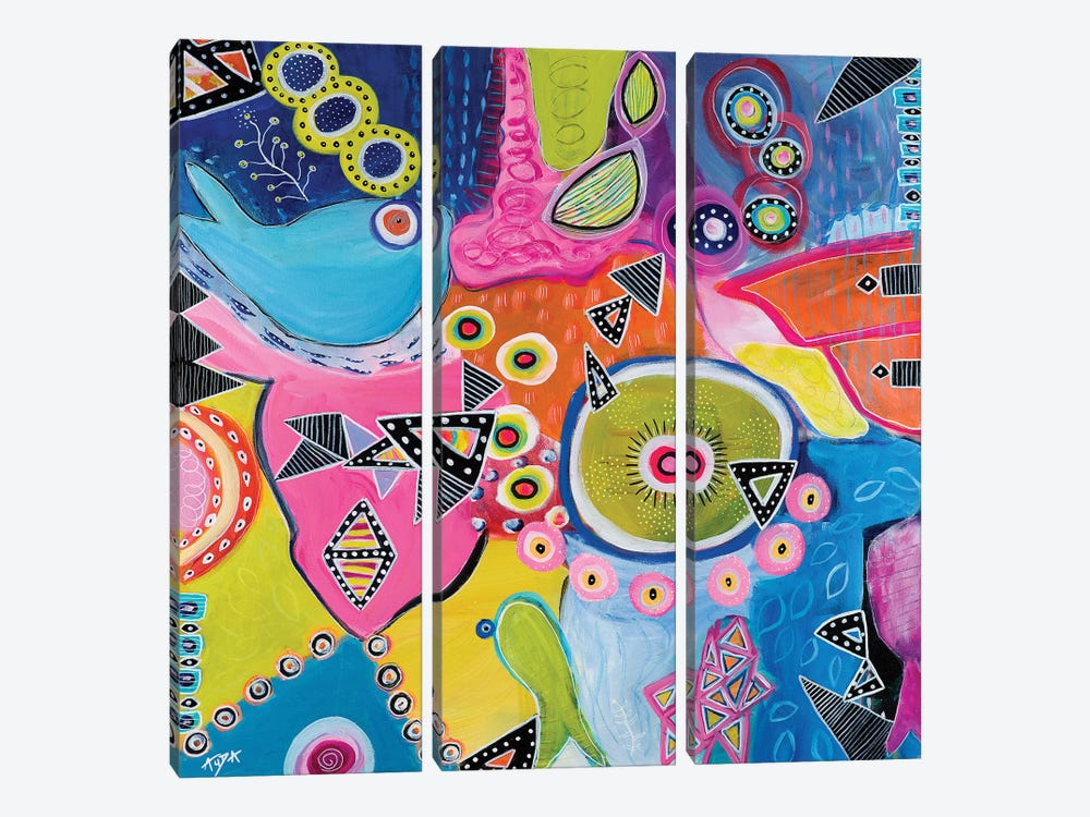 Great Barrier Reef by Christine Auda 3-piece Canvas Art
