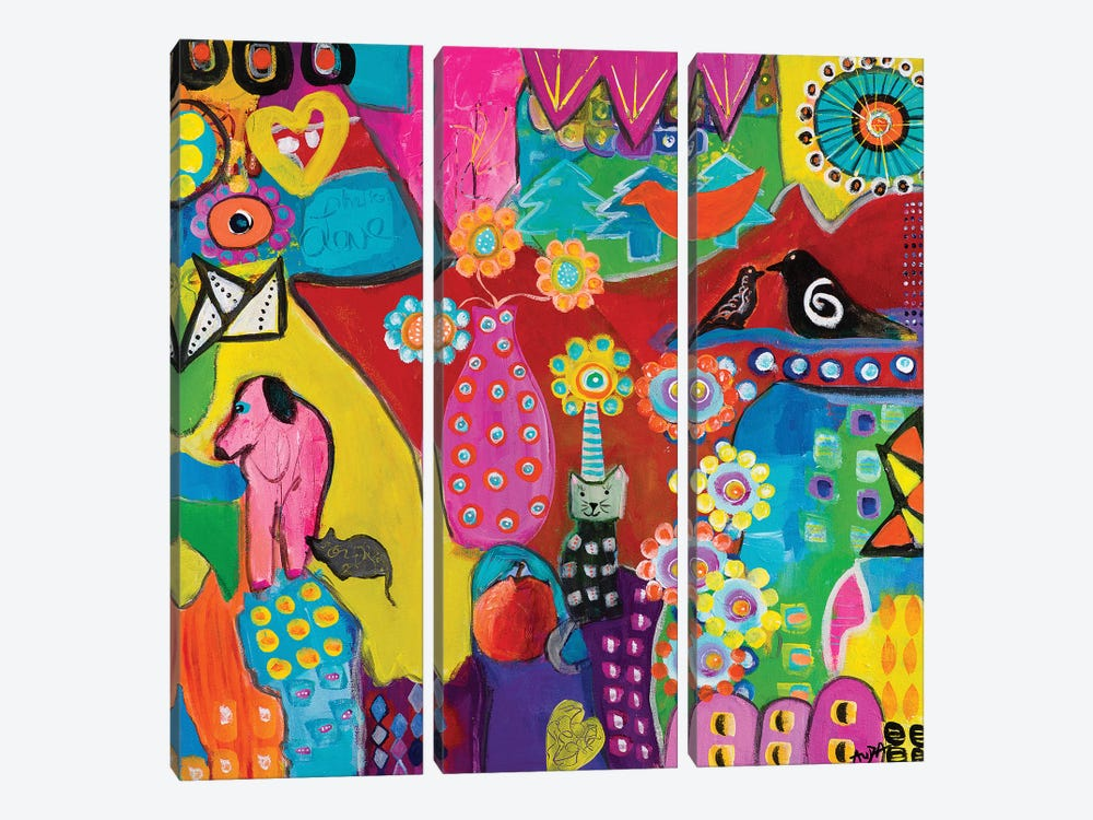Abundance by Christine Auda 3-piece Canvas Wall Art