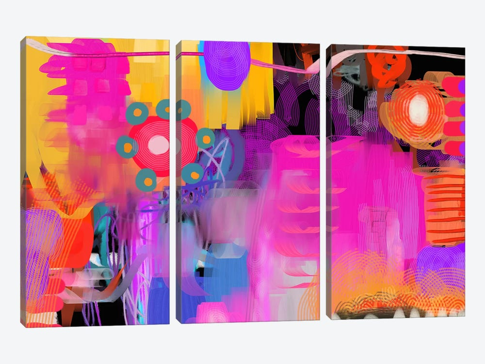 Hang With Me by Christine Auda 3-piece Canvas Art