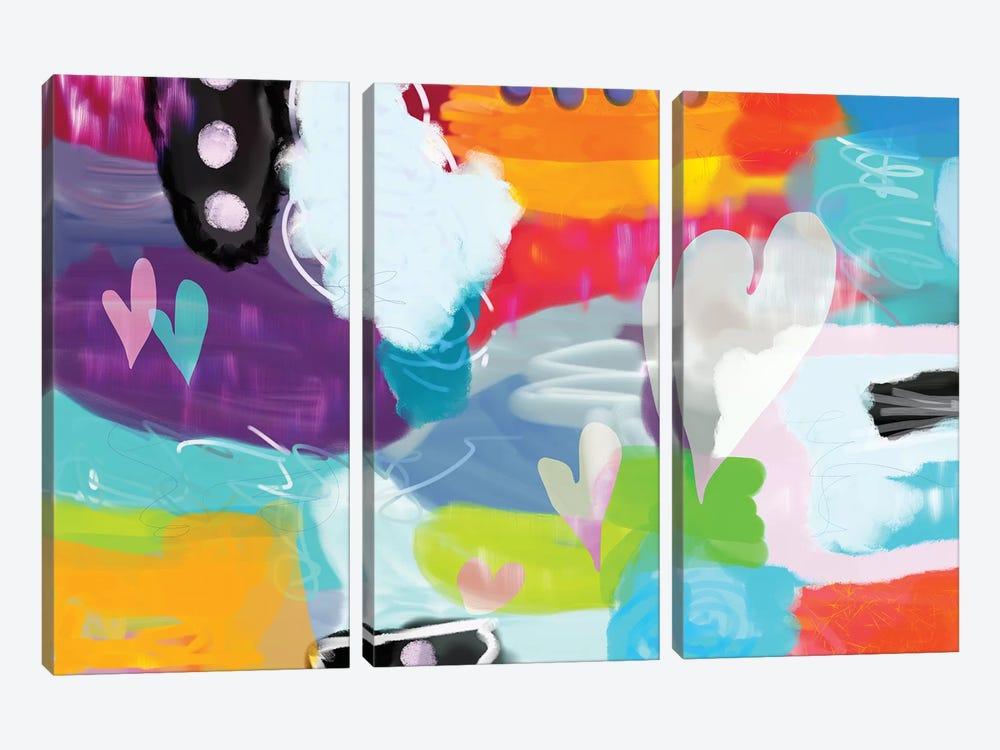 Heart Dance by Christine Auda 3-piece Canvas Print