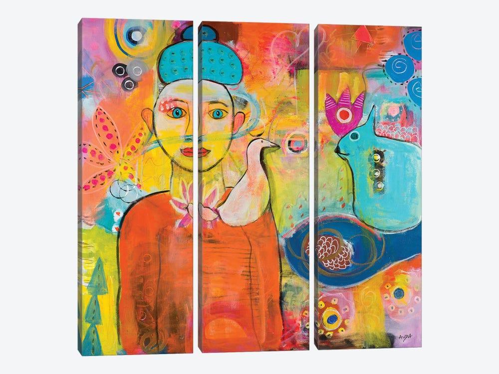 I Get You by Christine Auda 3-piece Canvas Print