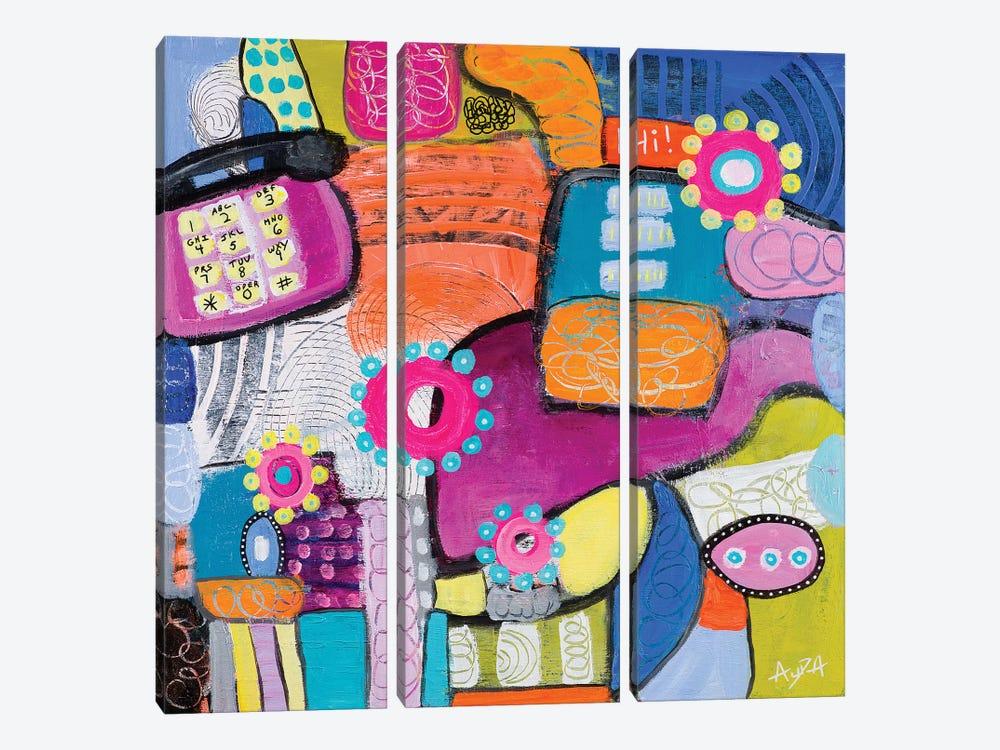 Landline by Christine Auda 3-piece Canvas Art