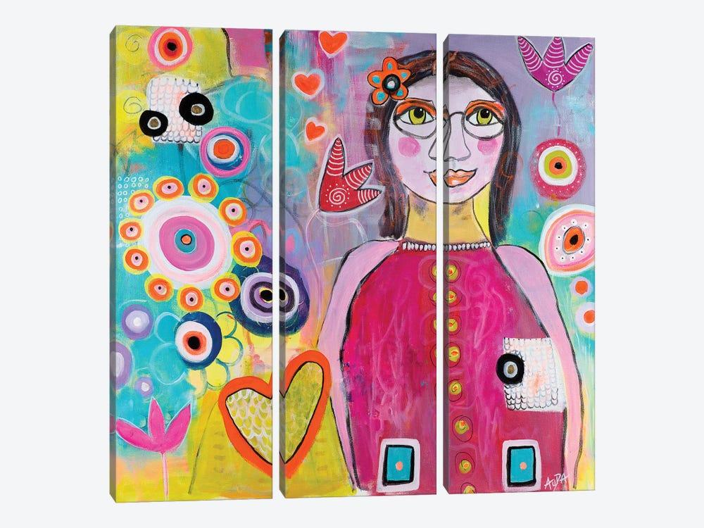 Lily's Dream by Christine Auda 3-piece Canvas Print