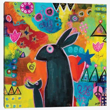 Mama Loves You Canvas Print #CAU30} by Christine Auda Canvas Wall Art
