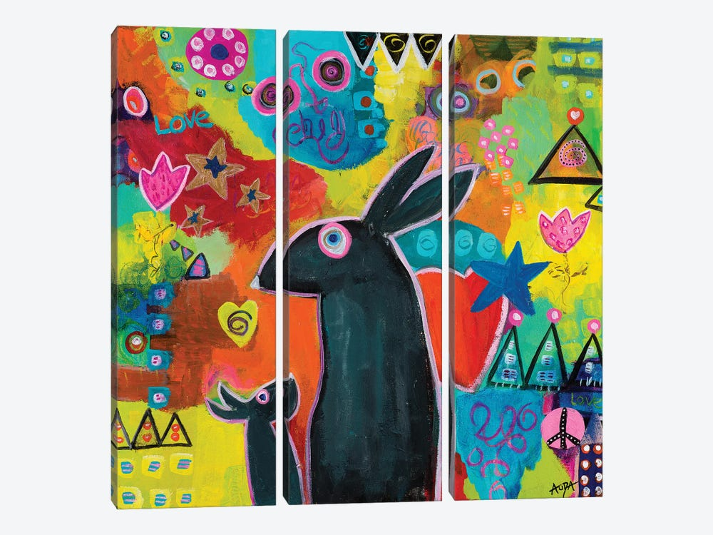Mama Loves You by Christine Auda 3-piece Canvas Print