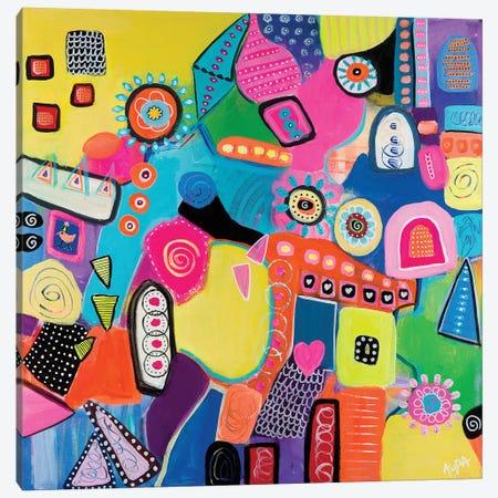 Mumbai Canvas Print #CAU33} by Christine Auda Canvas Artwork