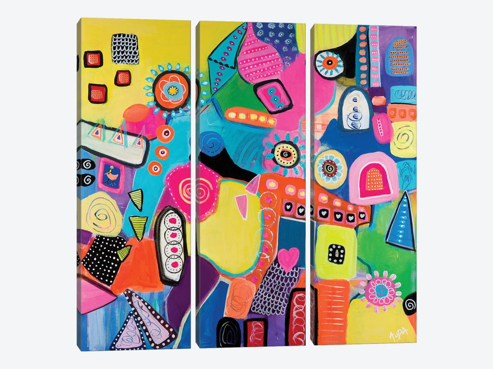 Mumbai by Christine Auda 3-piece Canvas Art
