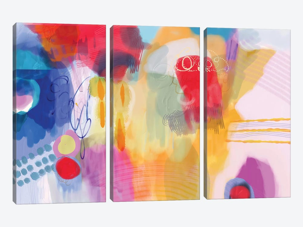 Serendipity by Christine Auda 3-piece Canvas Art Print