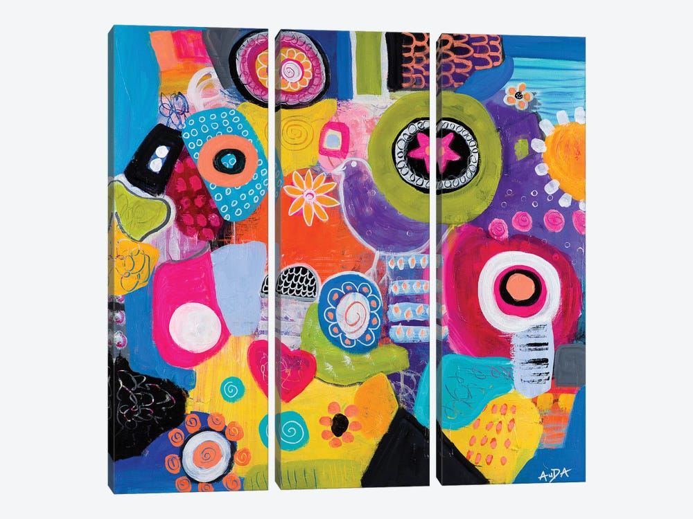Synchronicity by Christine Auda 3-piece Canvas Artwork