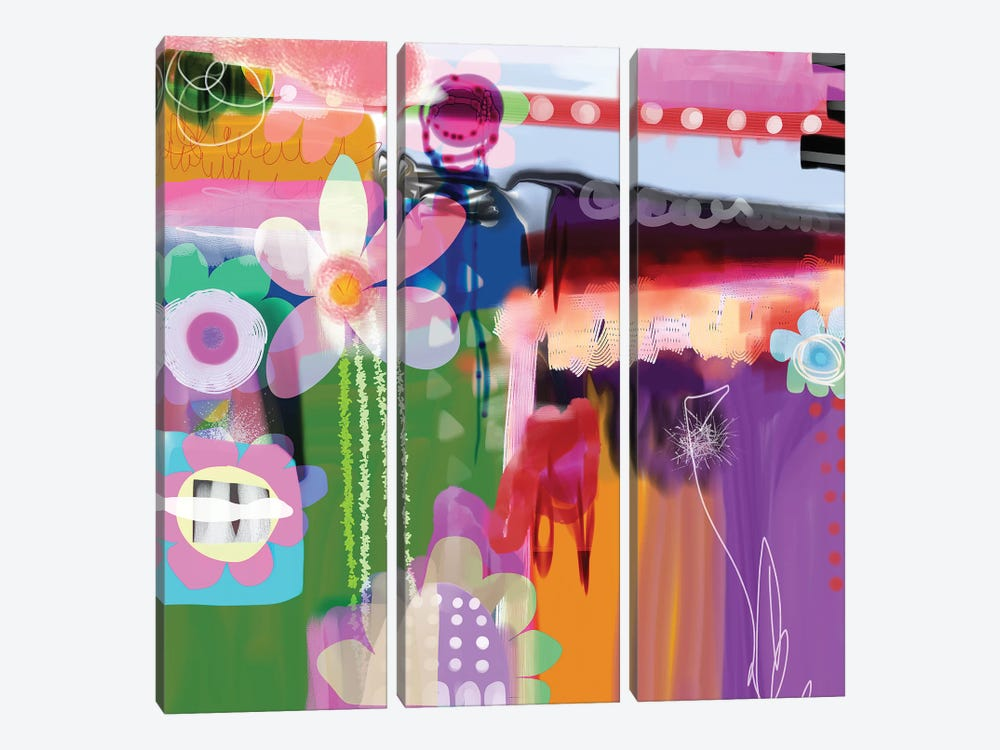 Temptation by Christine Auda 3-piece Canvas Print