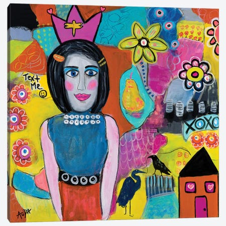Text Me Canvas Print #CAU46} by Christine Auda Canvas Artwork