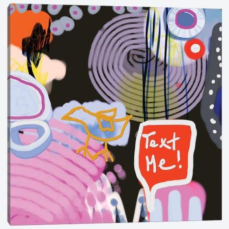 Text Me, Bird Canvas Print #CAU47} by Christine Auda Canvas Wall Art