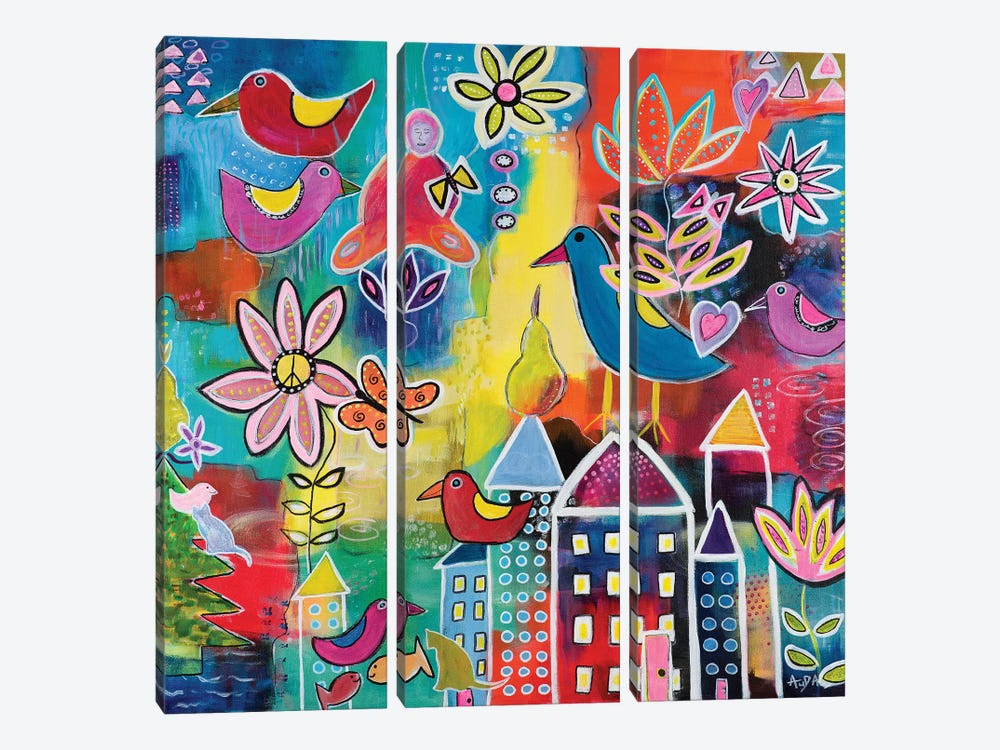 Utopia by Christine Auda 3-piece Art Print