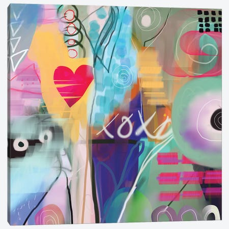 xoxo Canvas Print #CAU51} by Christine Auda Canvas Art
