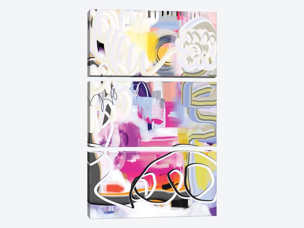 Exuberant  by Christine Auda 3-piece Art Print