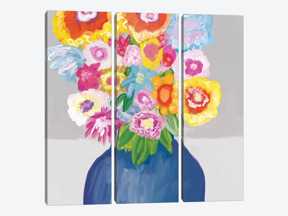 In Bloom  by Christine Auda 3-piece Canvas Wall Art