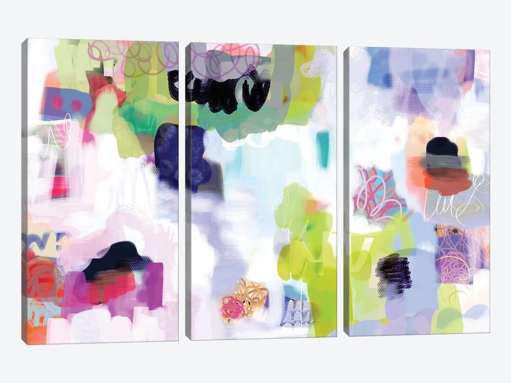 Just Chillin'   by Christine Auda 3-piece Canvas Art Print