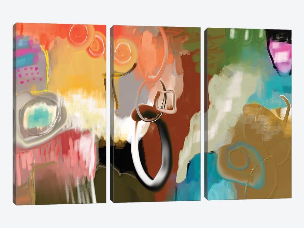 Saddle Up  by Christine Auda 3-piece Canvas Art Print