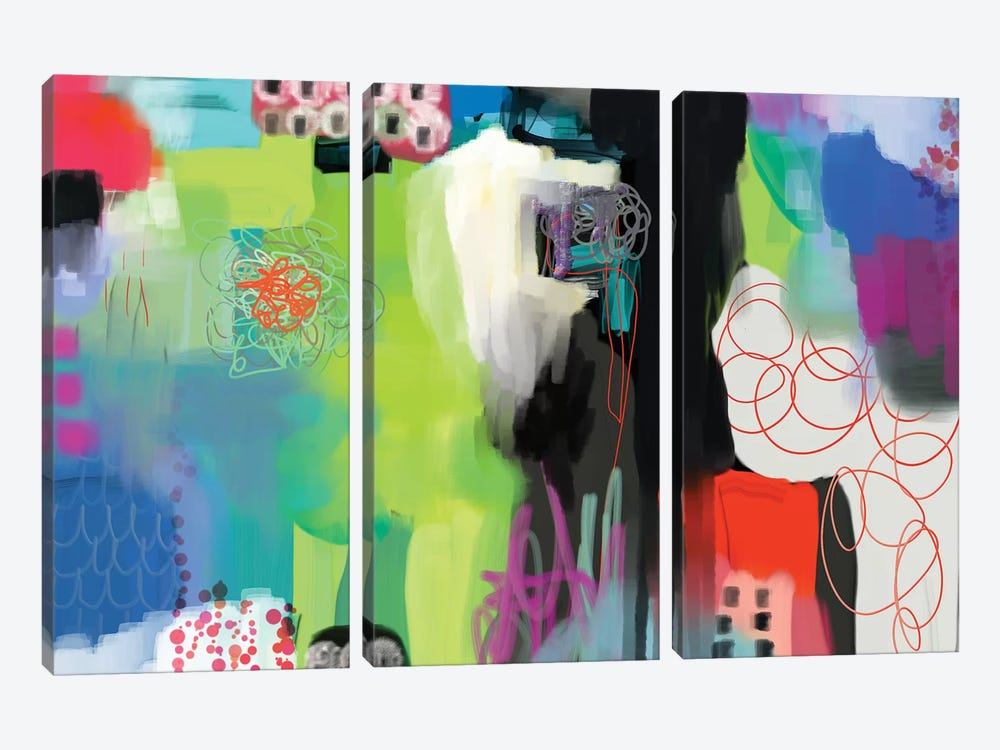 Spring Fling  by Christine Auda 3-piece Canvas Artwork