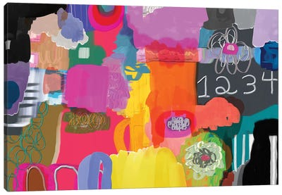 1234 Canvas Art Print