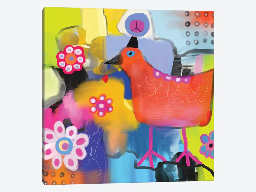 Bird of Peace by Christine Auda 1-piece Canvas Art