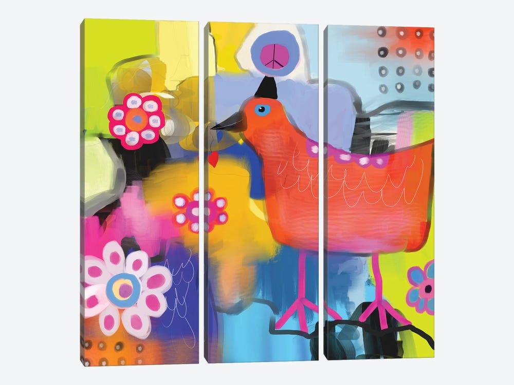Bird of Peace by Christine Auda 3-piece Canvas Wall Art