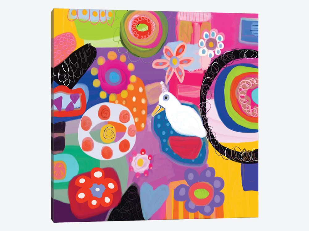 Garden Party by Christine Auda 1-piece Canvas Art Print