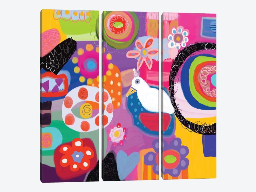 Garden Party by Christine Auda 3-piece Art Print