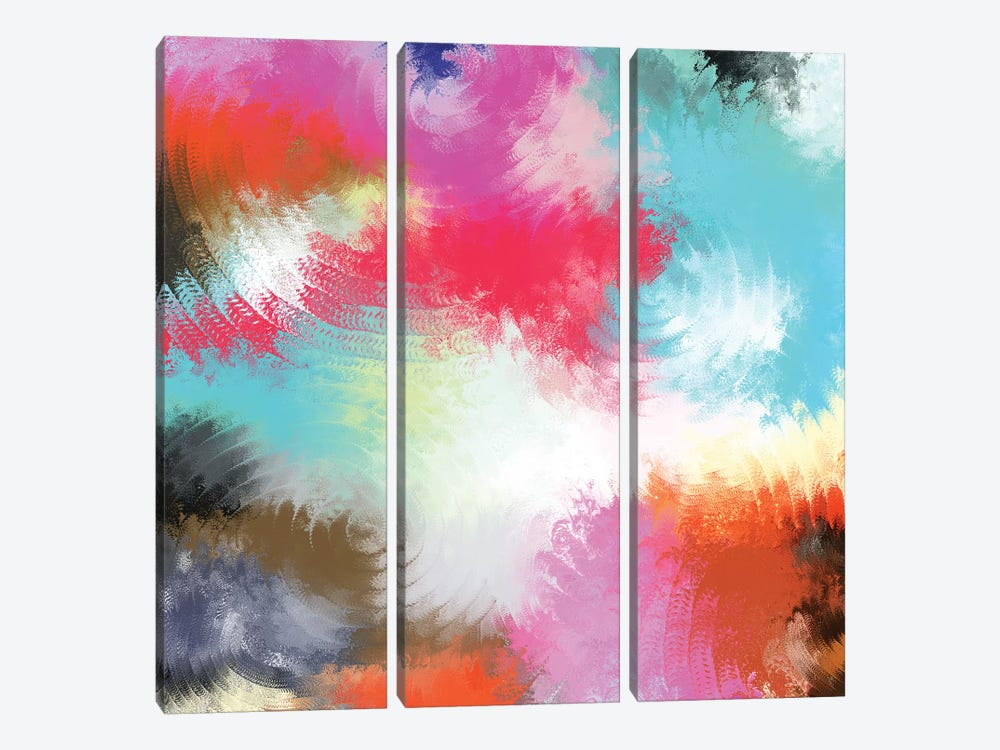 Jubilant by Christine Auda 3-piece Canvas Print