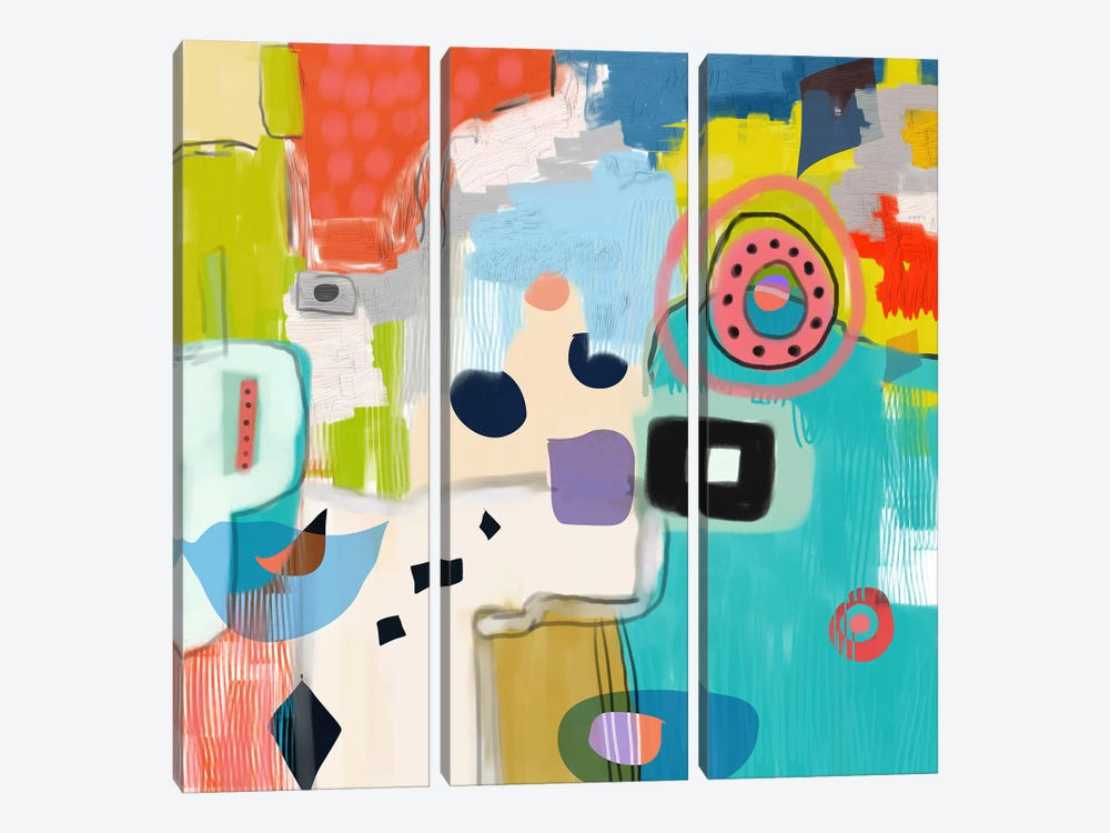 Shapeshifting by Christine Auda 3-piece Canvas Print