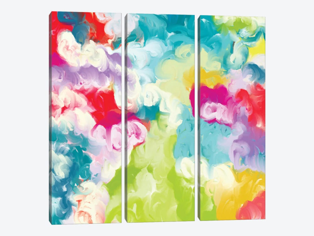 Spring Blossoms by Christine Auda 3-piece Canvas Artwork