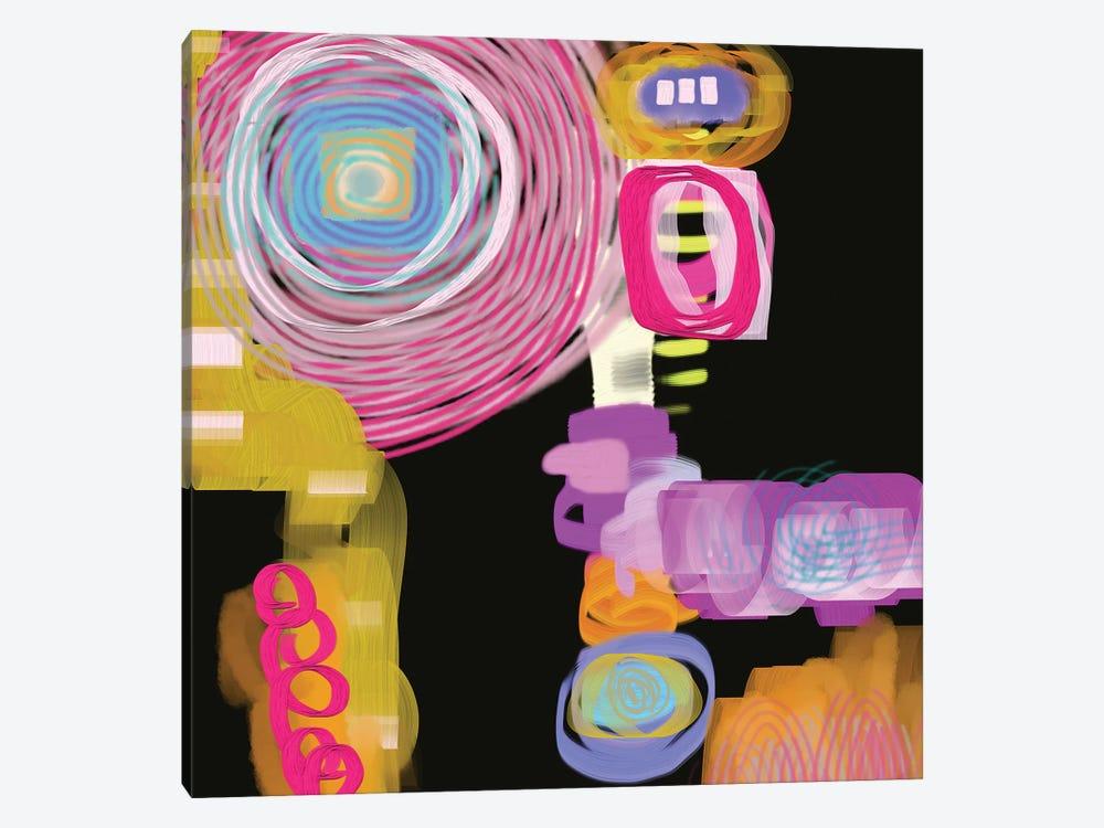 Curly Q by Christine Auda 1-piece Canvas Print