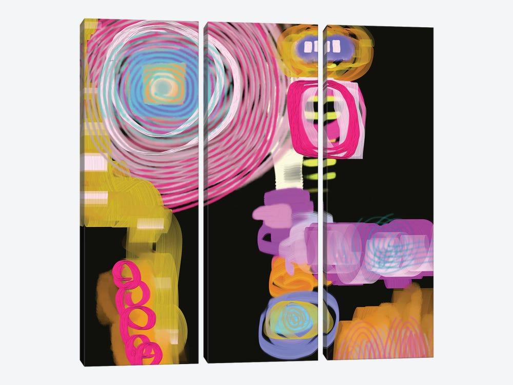 Curly Q by Christine Auda 3-piece Canvas Print