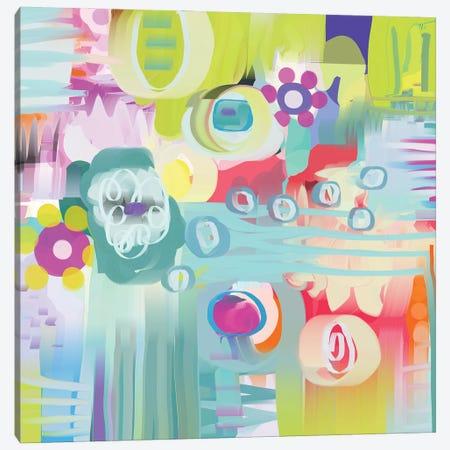 Travelling Flowers Canvas Print #CAU74} by Christine Auda Canvas Print